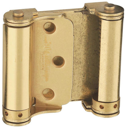 Picture of National 3 In. Satin Brass Double Action Spring Door Hinge (2-Pack)