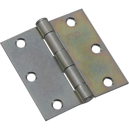 Picture of National 3 In. Square Zinc Plated Steel Broad Door Hinge (2-Pack)