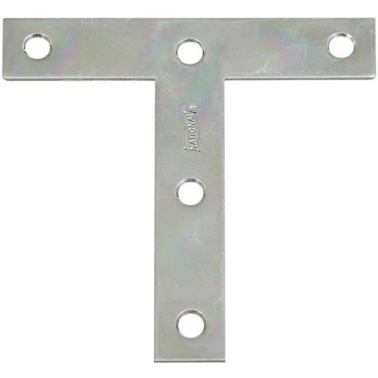 "Picture of National 4"" x 4"" Zinc T-Plate, (2-Pack)"