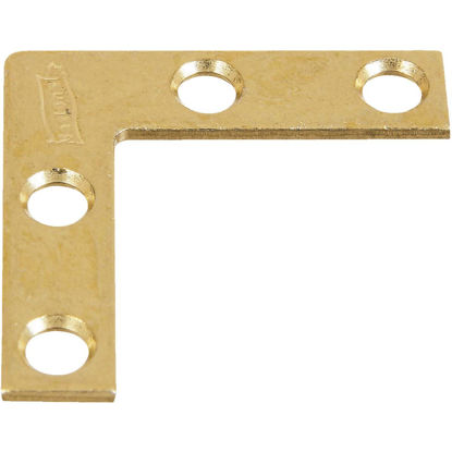 Picture of National Catalog 117 1-1/2 In. x 3/8 In. Brass Flat Corner Iron (4-Count)