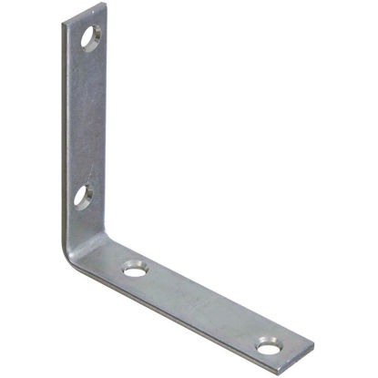 Picture of National Catalog V115 3-1/2 In. x 3/4 In. Zinc Steel Corner Brace (4-Count)