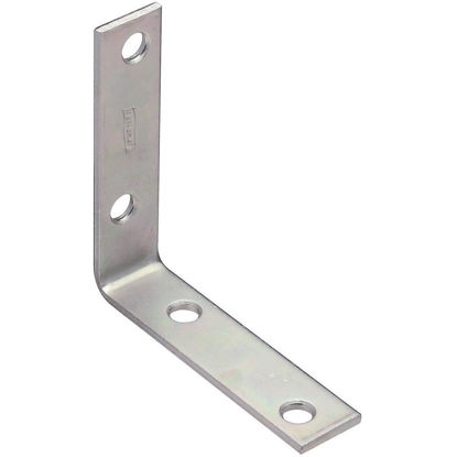 Picture of National Catalog V115 3 In. x 3/4 In. Zinc Steel Corner Brace (4-Count)