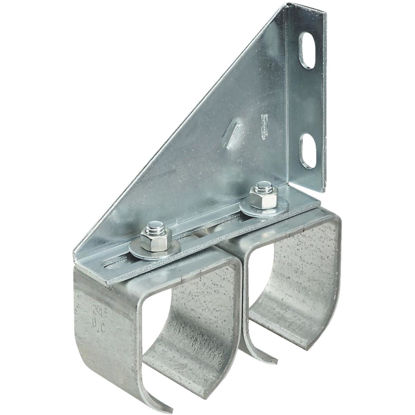 Picture of National Galvanized Double Round Rail Barn Door Bracket