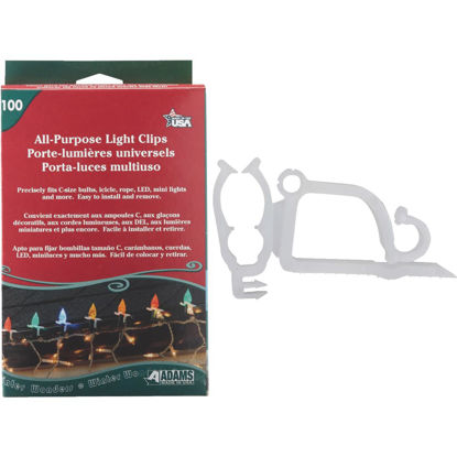 Picture of Adams White Gutter & Shingle All-Purpose Light Clips (100-Pack)