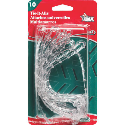 Picture of Adams 12 In. Clear Plastic Garland Tie (10-Pack)