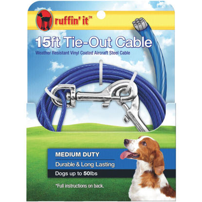 Picture of Westminster Pet Ruffin' it Medium-Duty Medium Dog Tie-Out Cable, 15 Ft.