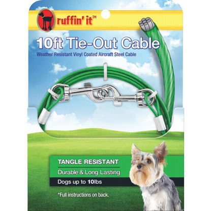 Picture of Westminster Pet Ruffin' it Tangle Resistant Small Dog Tie-Out Cable, 10 Ft.