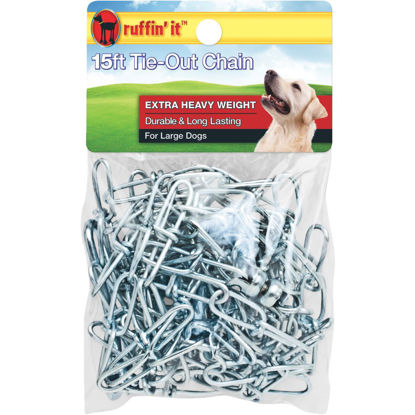 Picture of Westminster Pet Ruffin' it Extra Heavy Weight Large Dog Tie-Out Chain, 15 Ft.