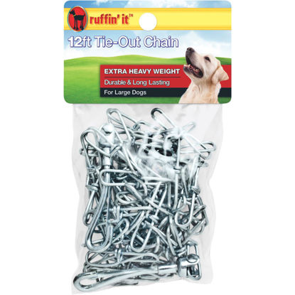 Picture of Westminster Pet Ruffin' it Extra Heavy Weight Large Dog Tie-Out Chain, 12 Ft.