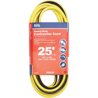 Picture of Do it Best 25 Ft. 14/3 Heavy-Duty Contractor Extension Cord
