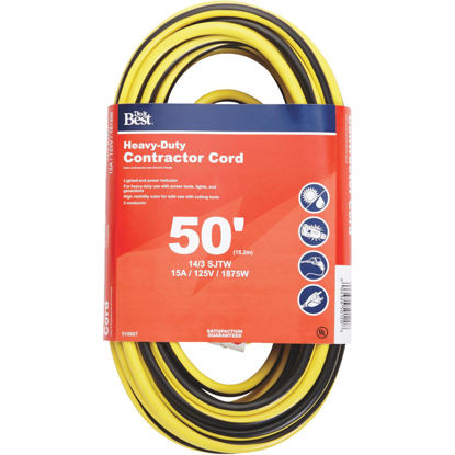 Picture of Do it Best 50 Ft. 14/3 Heavy-Duty Contractor Extension Cord