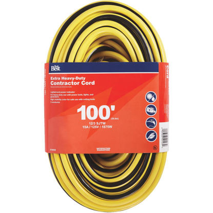 Picture of Do it Best 100 Ft. 12/3 Extra Heavy-Duty Contractor Extension Cord