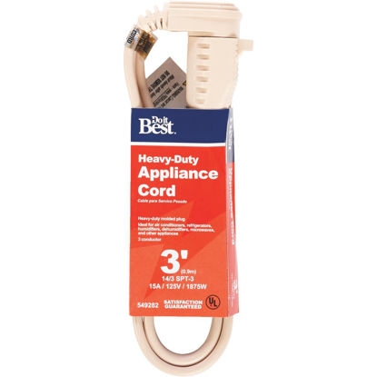 Picture of Do it Best 3 Ft. 14/3 15A Heavy-Duty Appliance Cord