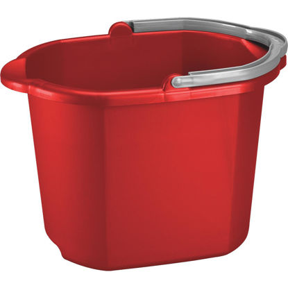 Picture of Sterilite 16 Qt. Red Dual Spout Bucket
