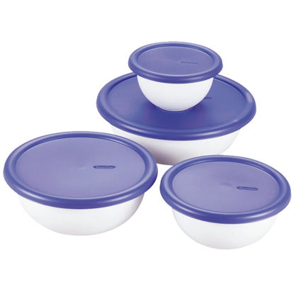 Picture of Sterilite Covered Plastic Bowl Set (8-Piece)