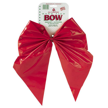 Picture of Holiday Trims 2-Loop 11 In. W. x 15-1/2 In. L. Red Plastic Outdoor Christmas Bow