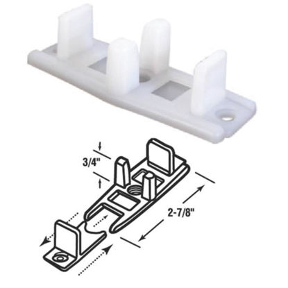 Picture of Slide-Co 3/4 In. Adjustable Nylon Base Bypass Door Bottom Guide