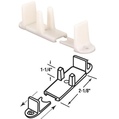 Picture of Slide-Co 1-1/4 In. Adjustable Nylon Base Bypass Door Bottom Guide
