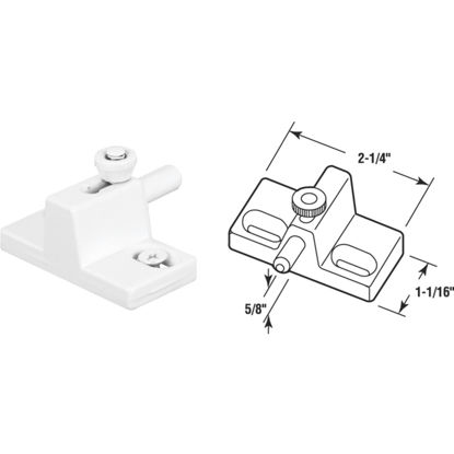 Picture of Defender Security White Slide Bolt Patio Door Lock