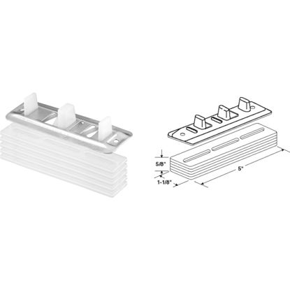 Picture of Slide-Co Bypass Door Guide & Carpet Risers