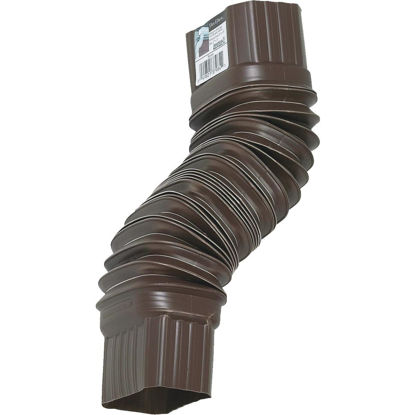 Picture of Amerimax 2 x 3 In. Plastic Brown Front or Side Downspout Elbow