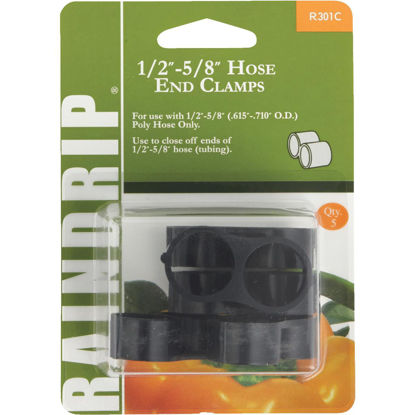 Picture of Raindrip 1/2 In. to 5/8 In. Figure 8 End Clamp (5-Pack)