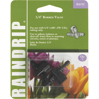 Picture of Raindrip 1/4 In. Double-Barbed In-Line Valve (2-Pack)