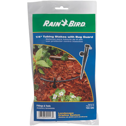 Picture of Rain Bird 1/4 In. Tubing Plastic Tubing Stake with Bug Guard (10-Pack)