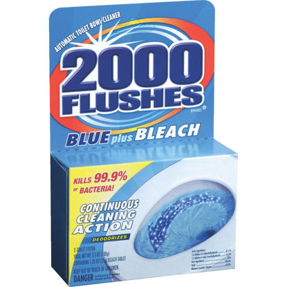 Picture of 2000 Flushes Blue Plus Bleach Automatic Toilet Bowl Cleaner