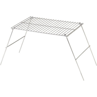 Picture of Rome Industries 10-1/2 In. W. x 12 In. H. x 17 In. L. Chrome-Plated Metal Camp Grill with Legs