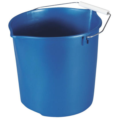 Picture of Rubbermaid Neat 'N Tidy 11 Qt. Royal Blue Bucket