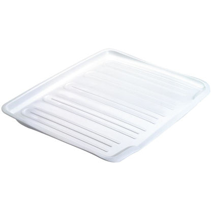 Picture of Rubbermaid 14.7 In. x 18 In. White Sloped Drainer Tray