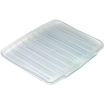 Picture of Rubbermaid 14.38 In. x 15.38 In. Clear Sloped Drainer Tray