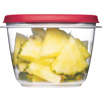 Picture of Rubbermaid Easy Find Lids 7 C. Clear Round Food Storage Container