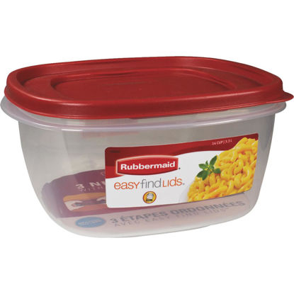 Picture of Rubbermaid Easy Find Lids 14 C. Clear Square Food Storage Container