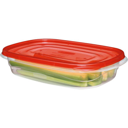 Picture of Rubbermaid TakeAlongs 4 C. Clear Rectangle Food Storage Container with Lids (3-Pack)