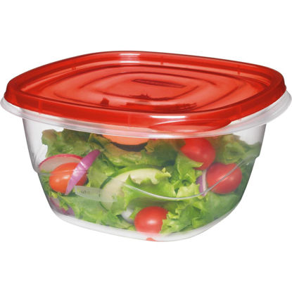 Picture of Rubbermaid TakeAlongs 5.2 C. Clear Square Food Storage Container with Lids (4-Pack)