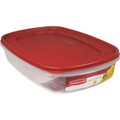 Picture of Rubbermaid Easy Find Lids 1.5 Gal. Clear Rectangle Food Storage Container