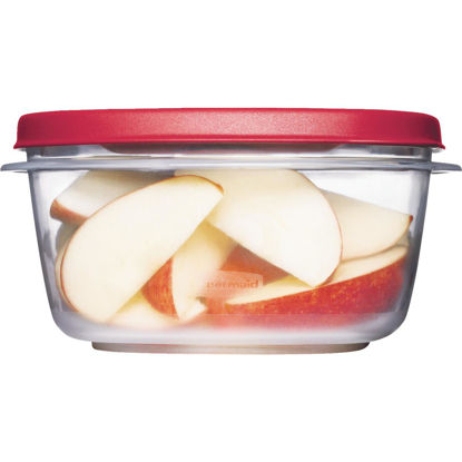 Picture of Rubbermaid Easy Find Lids 5 C. Clear Round Food Storage Container