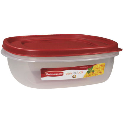 Picture of Rubbermaid Easy Find Lids 9 C. Clear Square Food Storage Container