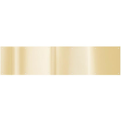 Picture of National 8 In. x 34 In. Brass Aluminum Kickplate