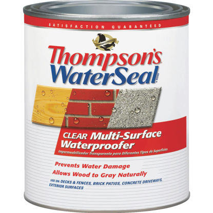 Picture of Thompsons WaterSeal Clear VOC MultiSurface Waterproofing Sealer, 1 Qt.