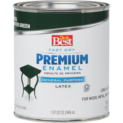 Picture of Do it Best Fast Dry Acrylic Latex Gloss Premium Enamel, Hunter Green, 1 Qt.