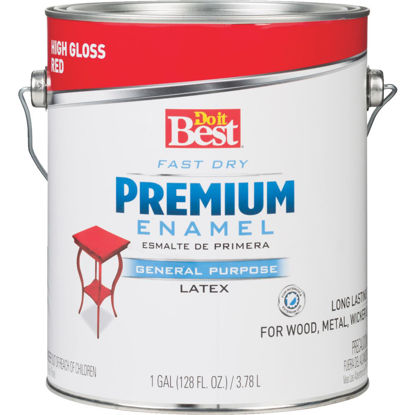 Picture of Do it Best Fast Dry Acrylic Latex Gloss Premium Enamel, Red, 1 Gal.