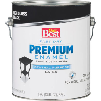 Picture of Do it Best Fast Dry Acrylic Latex Gloss Premium Enamel, Black, 1 Gal.