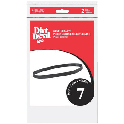 Picture of Dirt Devil Type 7 Easy Steamer Models Vacuum Cleaner Belt (2-Pack)