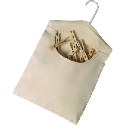 Picture of Homz 15 In. x 11 In. Cotton Canvas Clothespin Bag