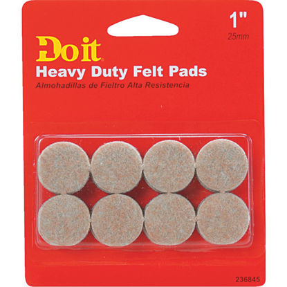 Picture of Do it 1 In. Beige Self Adhesive Felt Pads (16-Count)