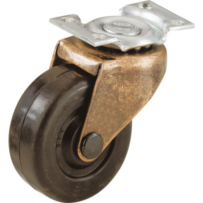 Picture of Do it 2 In. Medium-Duty Soft Rubber Swivel Plate Caster (2-Pack)