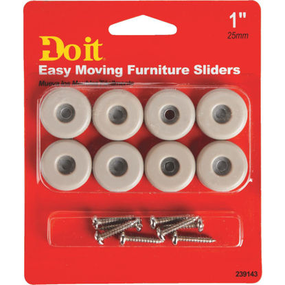 Picture of Do it 1 In. Round Adhesive and Screw on Furniture Glide,(8-Pack)